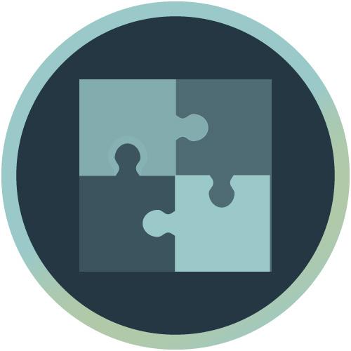 Icon mit Puzzle-Teilen