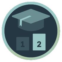 Bild mit Absolventen Hut für Fortgeschrittenenseminare