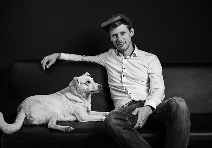 Daniel Schoch mit Hund Ida