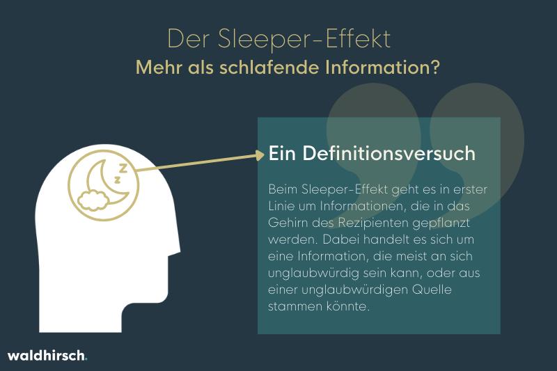 Grafik zur Erklaerung des Sleeper-Effekts als schlafende Information