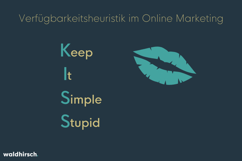 Grafik mit Schriftzug Kiss: Keep It Simple Stupid