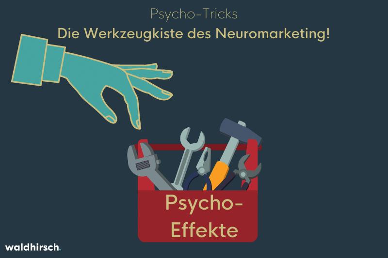 Eine Grafik zur Darstellung der Vielfalt an Psycho-Tricks mithilfe einer Werkzeugkiste