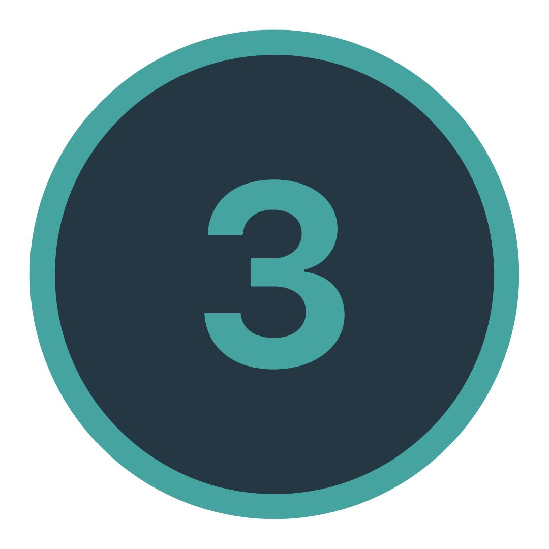Icon mit einer Drei