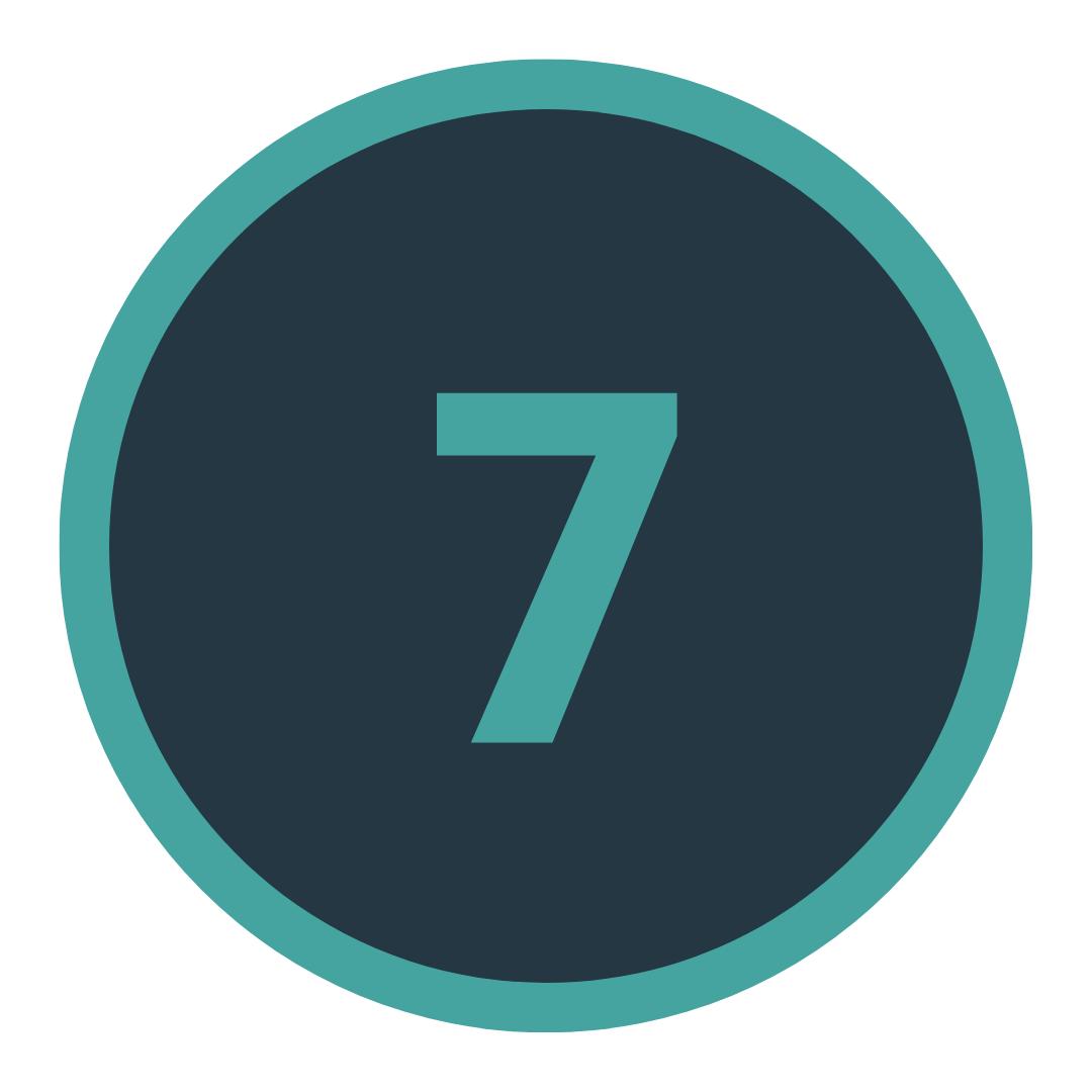 Icon mit einer Sieben