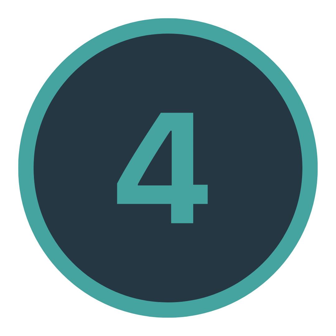 Icon mit einer Vier