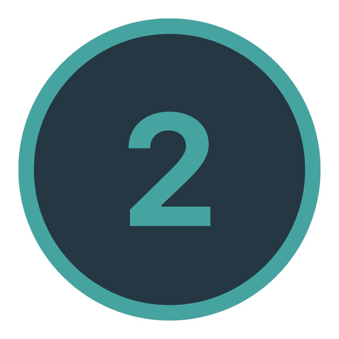 Icon mit einer Zwei