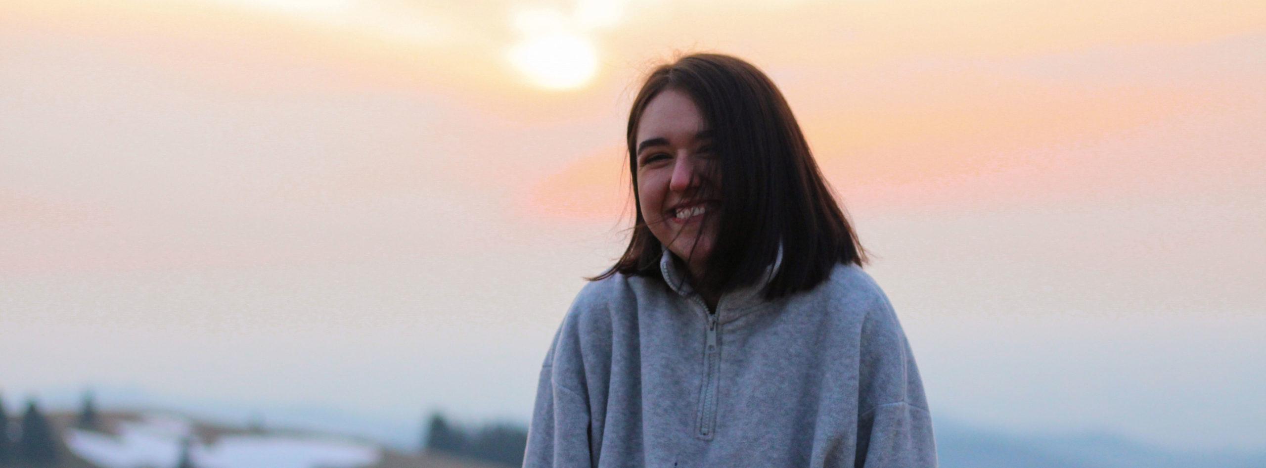 Bild von Celine Lais auf dem Feldberg in der Morgendämmerung