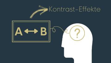Beitragsbild zum Thema Kontrast-Effekt